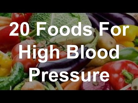 20 Foods For High Blood Pressure - Foods That Reduce Blood Pressure