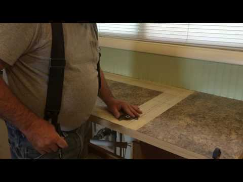 Kitchen Counter Top #4 (Cutting out the sink hole)