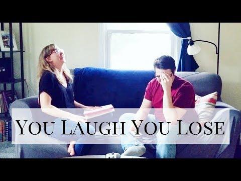 YOU LAUGH, YOU LOSE CHALLENGE | Me Vs. My Husband | Dad Joke Edition
