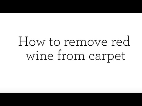 How to remove red wine from carpet