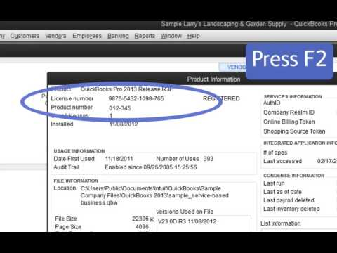 Learn how to quickly find your license number in QuickBooks