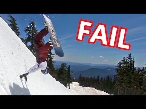 FAILING TO LEARN SNOWBOARD TRICKS