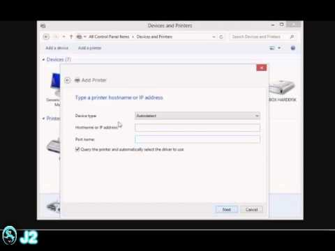 Setup Network Printer on Windows 8