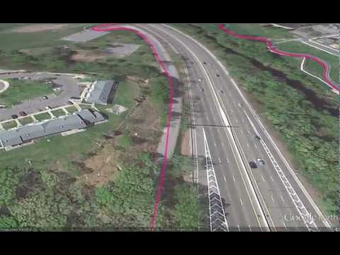 Proposed Bike Path: Google Earth Flyover