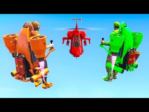 INSANE JETPACKS vs. HELICOPTERS! (GTA 5 Minigames)