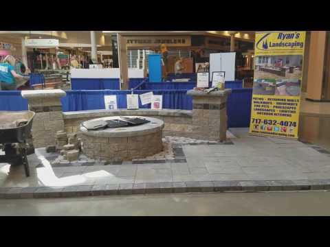 Setting up for the Hanover Builders Home and Garden Show @ the mall - Ryan's Landscaping