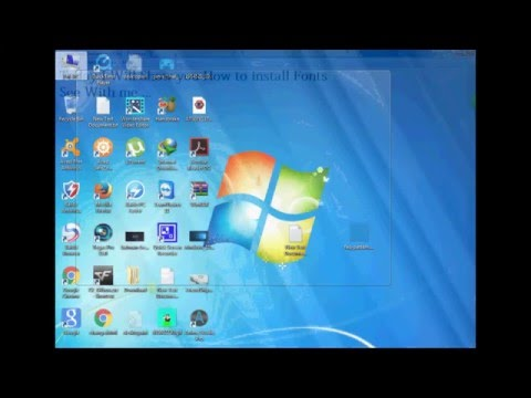 How to add Fonts with windows 7 and XP