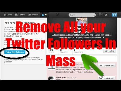 Remove All your Twitter Followers in Mass/Bulk Easily [Script]