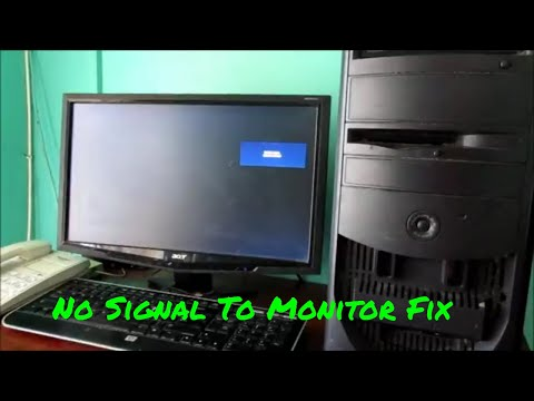 How to Fix No Signal To PC Monitor - No Signal on Monitor Easy Fix