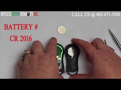 How To Change A Chrysler PT Cruiser Key Fob Battery 2001 -2005