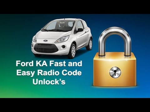 How To Find Ford KA Serial Radio Code For Unlock 6000CD Stereo/CD Player