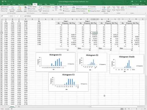 Excel 2016 Data Analysis ToolPak Histograms and Percent Polygons