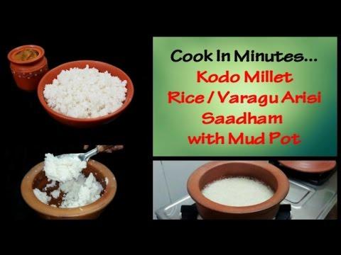 How to cook Kodo Millet Rice / Varagu Arisi Saadham Using Mud Pot / மண் பானை வரகு அரிசி சாதம்