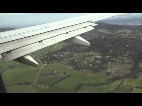 Virgin Australia 737 Landing at Hobart