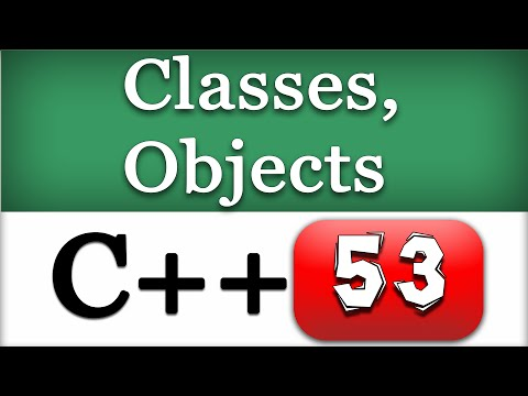 C++ Object Oriented Programming Video Tutorial | Introducing Classes, Objects