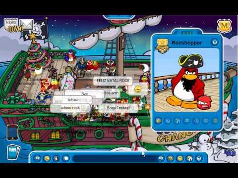 Club Penguin I met Rockhopper December 2010 HD