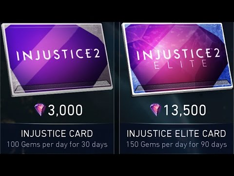 CHEAPER GEMS in Injustice 2 Mobile. INJUSTICE ELITE CARD. Android release.
