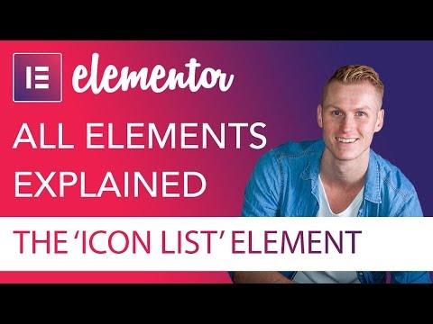 Icon List Element Tutorial | Elementor
