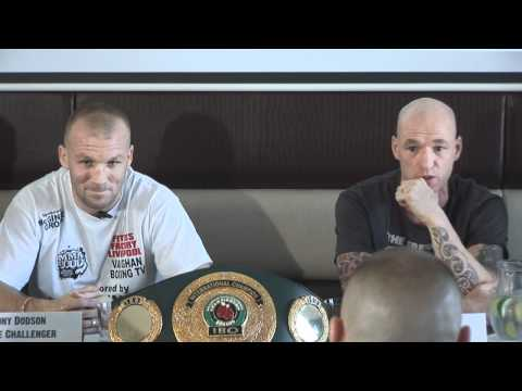 Tony Dodson and Darren Stubbs press conference