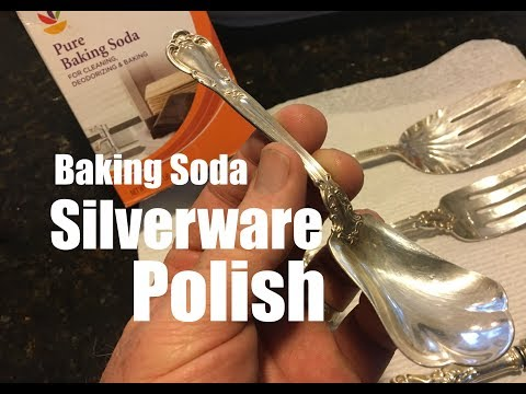 How to easily Polish Silverware with the Baking Soda method