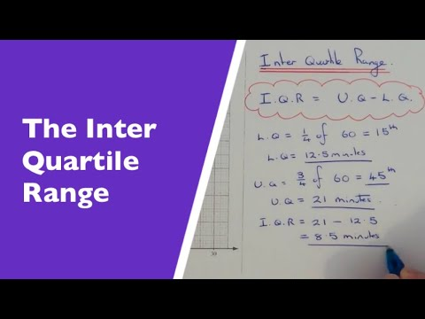 How To Work Out The Inter Quartile Range From A Cumulative Frequency Graph.