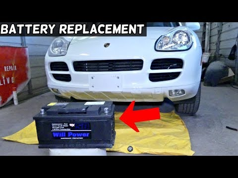 HOW TO REPLACE BATTERY ON PORSCHE CAYENNE, AUDI Q7