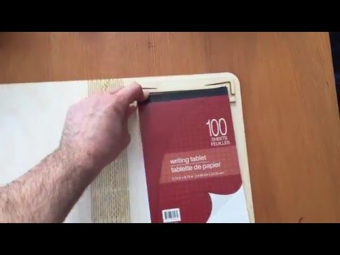 Wooden book cover