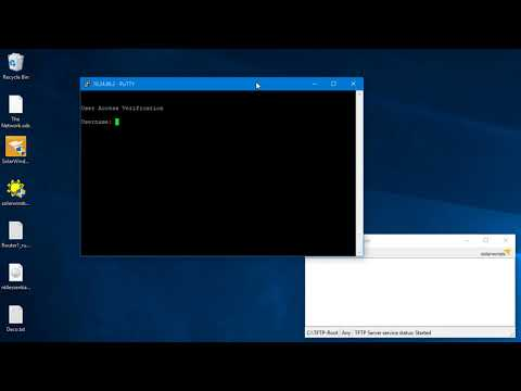 Backing up a Cisco Catalyst to Windows 10