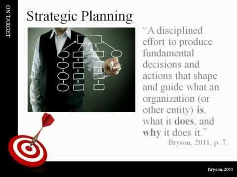 Strategic Planning, Management & Processes