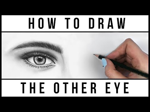 How to Draw BOTH Eyes Evenly   Easy Step by Step Art Drawing Tutorial