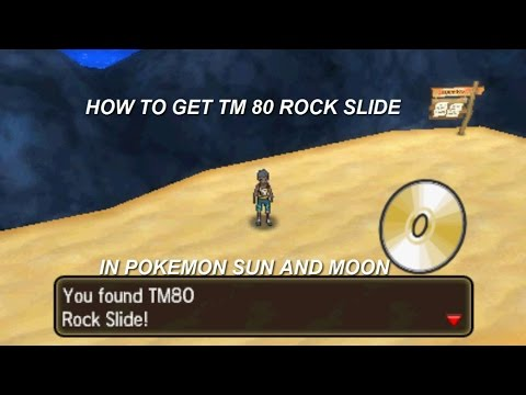 How to get TM 80 Rock slide in Pokemon Sun and Moon!