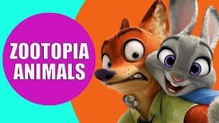 Zootopia Nick Wilde, Judy Hopps, Mr. Big, Sloth, Chief Bogo - Disney