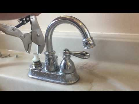 How to remove a stuck Moen sink cartridge