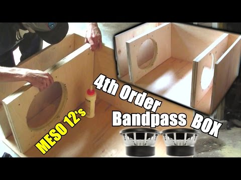 Building a Bandpass Subwoofer Box | 4th Order Sub Enclosure Build / 2:1 Ratio / 2 Sealed 4 Ported