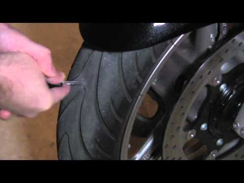 How to plug a Motorcycle Tire
