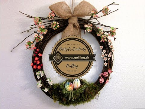 Nature Wreath tied with tree branches (Tutorial)  -  Willow Wreath