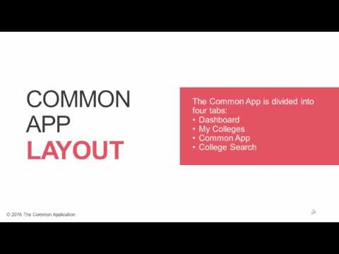 Creating A Common App Account
