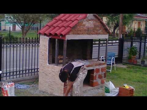 How to build a brick barbecue BBQ - Κατασκευή ψησταριάς.