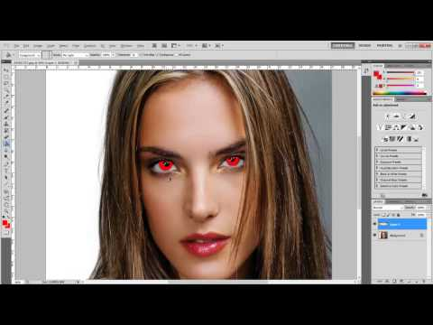 How To - Change eye colour in photoshop