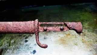 Extremely Rusty Mauser 98K Bayonet Restoration
