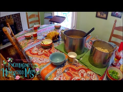 Jamerrill's Beans, Rice, and Corn Bread Recipe | Large Family Cooking