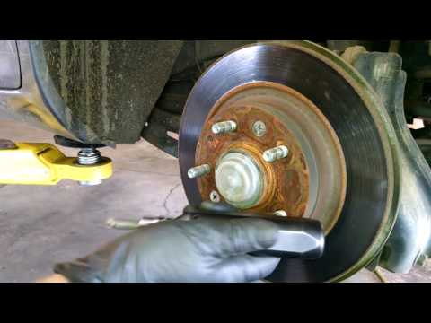 Rear brake pad replacement 2007 Mazda 6 Install, remove or replace rotor