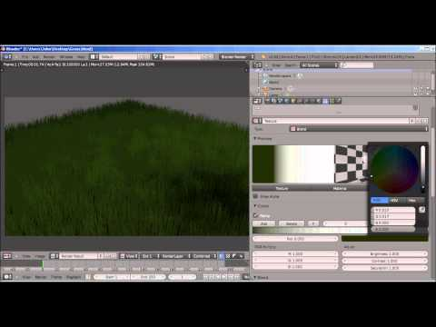 Animate Grass Particles