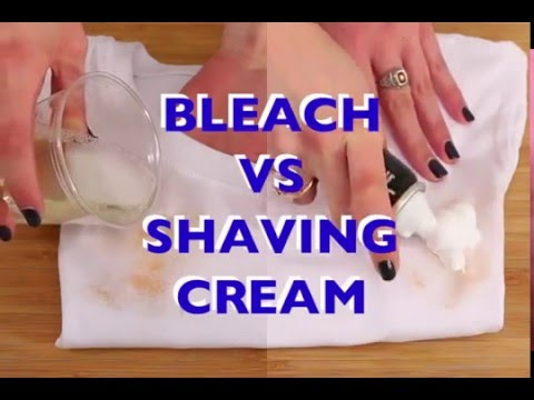 Shaving Cream Hack for White Shirt Stains