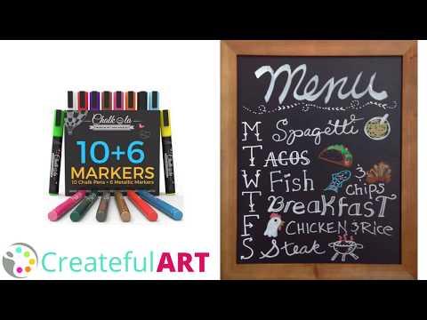 DIY Chalk Menu   Chalkboard Art Tutorial