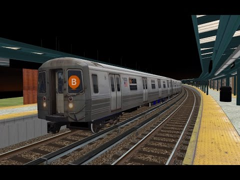 OpenBVE HD: NYC Subway R68 B Train With Howling Motors & Gearboxes On The  Brighton Line