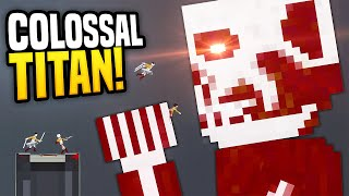 COLOSSAL TITAN CAN T BE STOPPED People Playground Gameplay Attack On Titan
