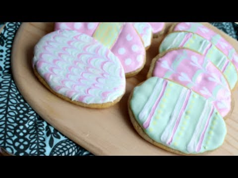 Pastel Easter Cookies // Royal Icing Patterns for Beginners