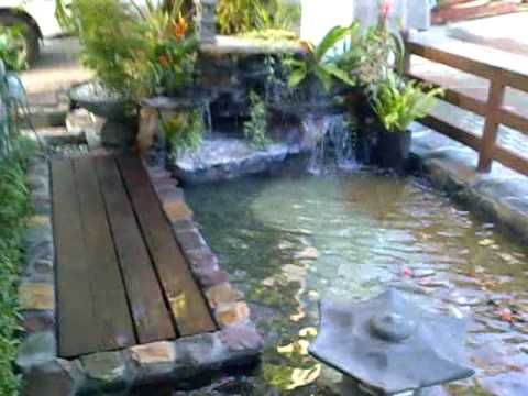 Koi Pond with Waterfalls in Quezon City, Philippines