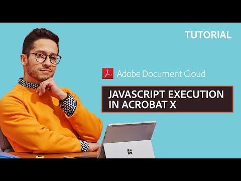 JavaScript Execution in Acrobat X